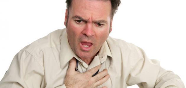 ضيق التنفس بعد الأكل